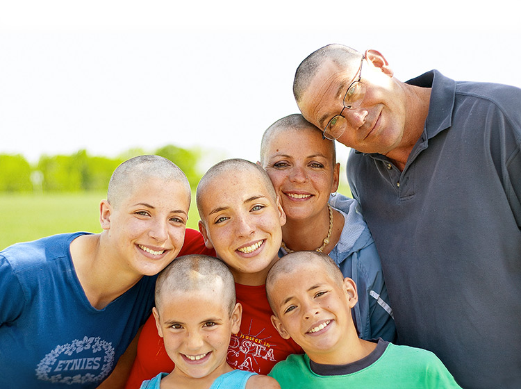 a supportive family with a cancer patient