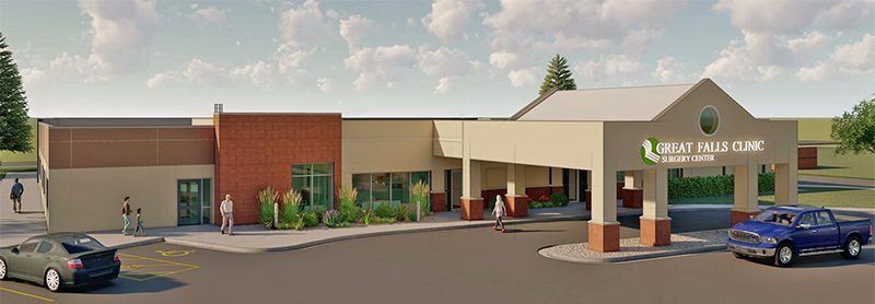 rendering of the surgery center expansion